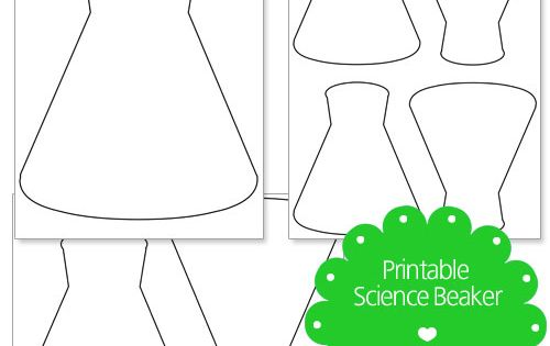 Printable Science Beaker from PrintableTreats