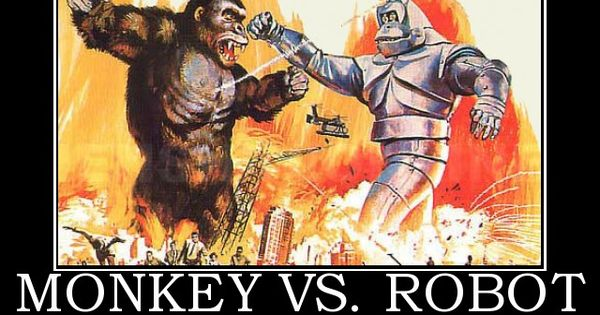 Oh So Cool Https Plus Google Com: Robots & Monkeys
