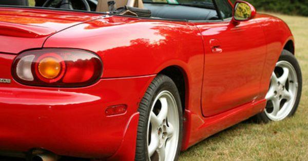 Oxidized Mazda Miata After Polishing Car Car Wax Repair