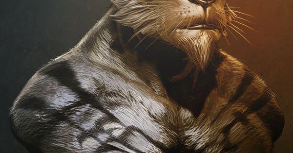 Deviantart Lion Warrior: Lion Warrior Paintover By Digitalinkrod.deviantart.com On
