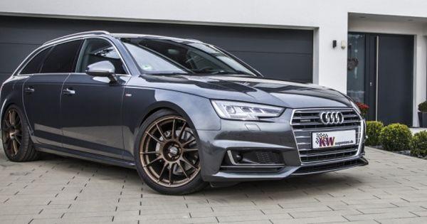 Mehr Tiefgang Fur Den Aktuellen Audi A4 Kw Gewindefahrwerke Und Federn Fur Den Audi A4 B9 News Gewindefahrwerk Fahrwerk Audi A4