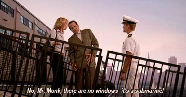 Adrian Monk Love This Episode It S Called Mr Monk And The Submeren