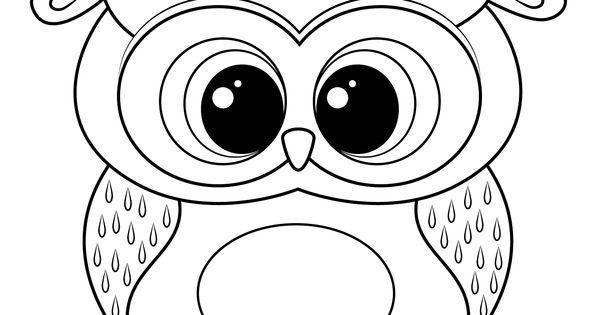 unique coloring pages owl cartoon - photo#7