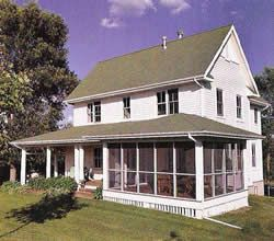 Field Of Dreams Quintessential Farmhouse With Screen Porch On Back Side Modern Farmhouse Exterior House Plans Farmhouse Farmhouse Plans
