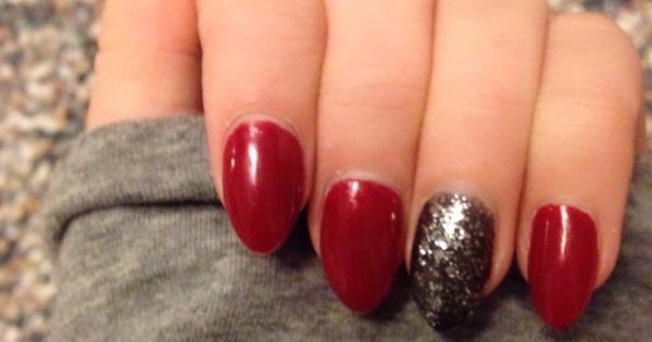 Red and black nails pinterest