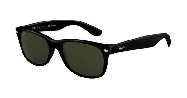 #Ray Ban Outlet Ray Ban Wayfarer RB2132 Sunglasses Black Frame Crystal Green