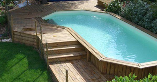piscine bois hors sol et semi enterr e jardin pinterest piscine bois enterr et piscines. Black Bedroom Furniture Sets. Home Design Ideas