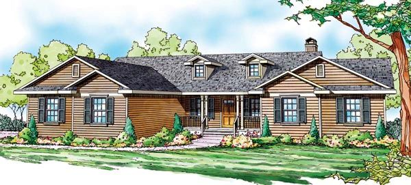 House plan 59749 cottage country florida ranch plan with for 4 car garage ranch house plans