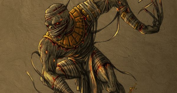 Egypt Warrior Illustration Anubis Pyramid Fantasy Art: Mummy Warrior By Rixx