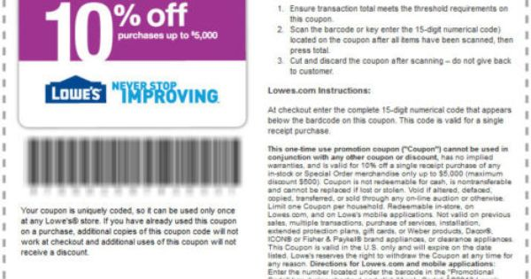 5 Lowes Coupons 10 Off Mar 19 Exp Fast Ship Lowes Coupon Lowes Printable Coupon Coupons