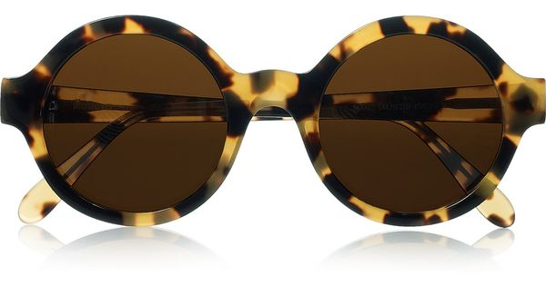 Frieda Roundframe Tortoiseshell Acetate Sunglasses