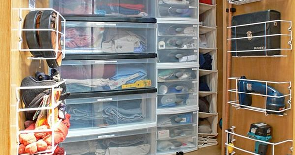 organized rv wardrobe
