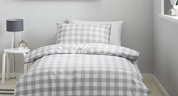 Gingham Grey Duvet Cover And Pillowcase Set Dunelm 10 Grey Duvet Gray Duvet Cover Duvet Covers