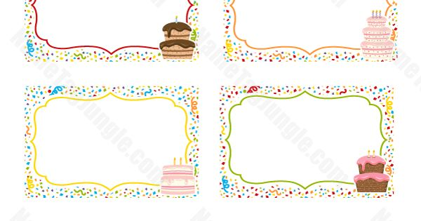 Free Printable Birthday Cake Name Tags The Template Can