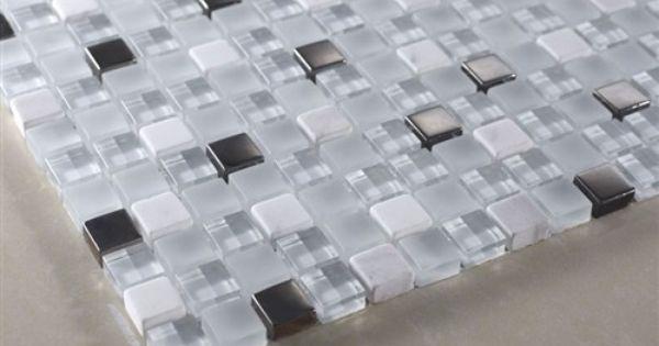 Buy Quantum Satin Ice 5 8 X 5 8 Mosaic Glass Tiles Meshed On 12 X 12 Sheet Bathroom Walls Kitchen Backsplash Sh Mosaic Glass Glass Mosaic Tiles Glass Tile