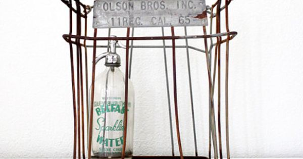 Metal Farm Basket by Lucky Little Dot @ Uncovet // A little