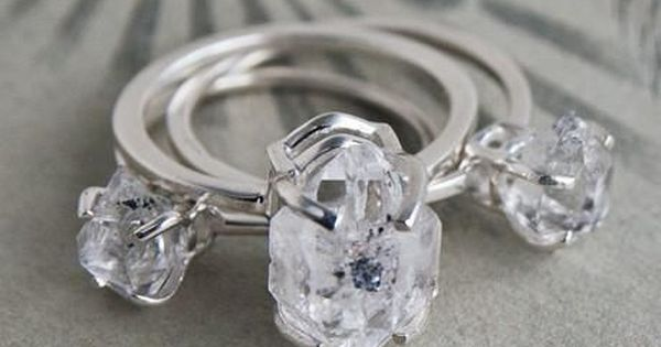 Erica Weiner Herkimer Diamond Solitaire Rings