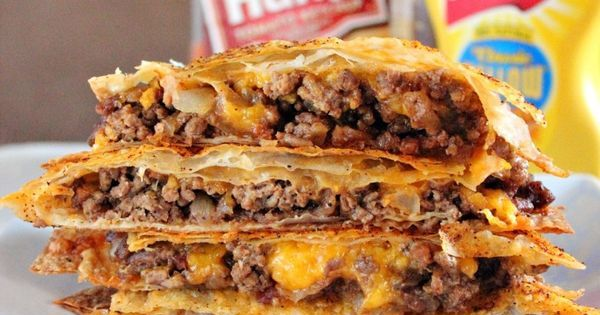 Cheeseburger Quesadilla.. TheTexasFoodNetwork chefshellp share your recipes with us on Facebook at