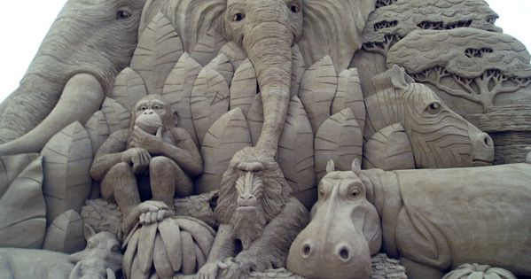 Sand Sculptures. the animal kingdom