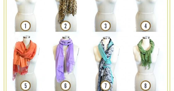 ways to tie scarves around neck | 12 More Ways to Tie