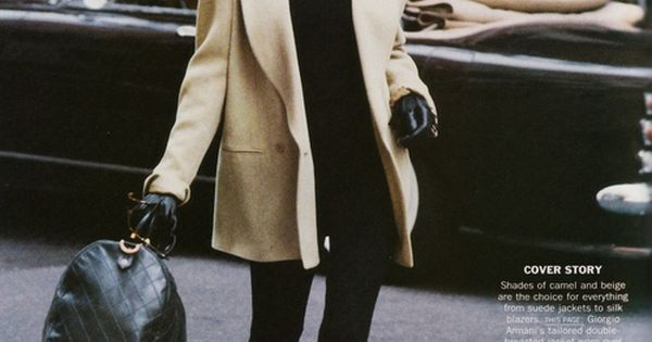 Technically '89, but it would work today. Linda Evangelista in Armani. timeless