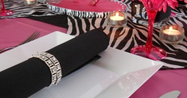 black and white sweet 16 party ideas - Google Search