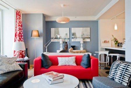 Red Sofa Blue Walls Interior Design Ideas Google Search Red Sofa Living Room Red Couch Decor Red Couch Living Room