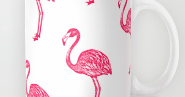 american flamingo pink mug by the wallpaper files 15. Black Bedroom Furniture Sets. Home Design Ideas