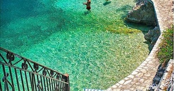 Steps to the Sea in Ithaca, Greece