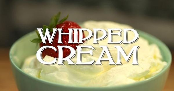 Whipped cream, Cream and Videos on Pinterest