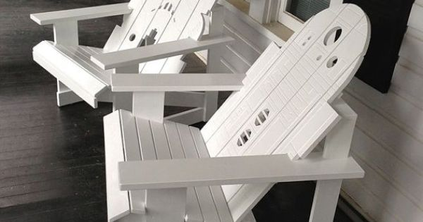R2-D2 & Storm Trooper themed porch chairs!!