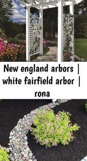 New England Thorns White Carnival Arbor Rona Thorns England Earth Arbor L Arbor Carnival In 2020 New England Arbors Front Yard Landscaping Front Yard Garden
