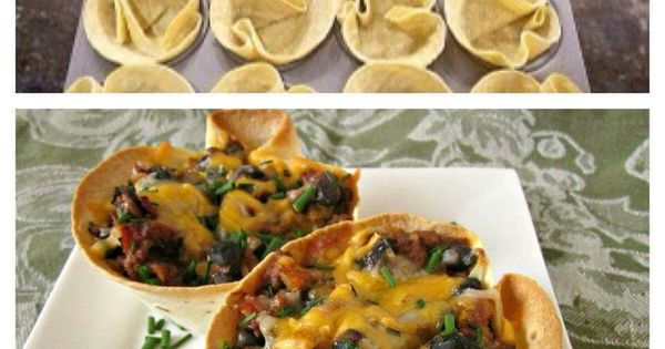 Taco cups | Entertaining~Parties | Pinterest | Cups