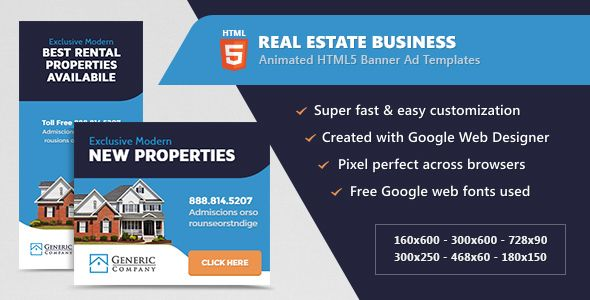 Real Estate Business Banner Ads Html5 Animated Gwd Business Banner Banner Ads Google Web Designer