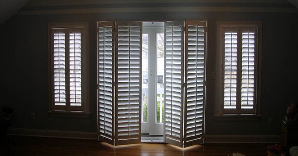 In Love Must Find These Bi Fold Plantation Shutters For Sliding Glass Doors New Build Ideas