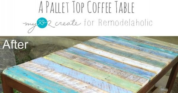 Update A Glass Top Coffee Table With A Pallet Stains Broken Glass And Glasses