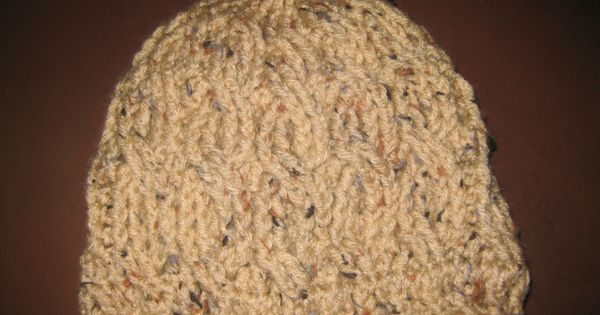 Crocheting Is Hard : Cable stitch crochet Beanie..it was hard but not too bad for my first ...