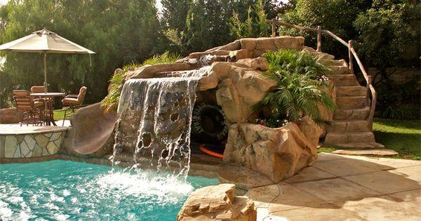 Cool Pools With Caves Google Zoeken Pool Ideas Pinterest Backyards Rock Pools And Rocks Backyard Resort Backyard Insane Pools