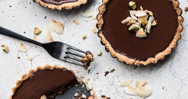Coconut chocolate, Pistachios and Tarts on Pinterest
