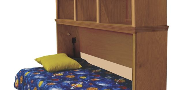 Horizontal Murphy Bed With Optional Bookcase Bed Is In The Open Position Murphy Beds And