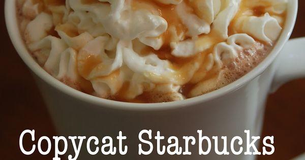 Copycat Starbucks Salted Caramel Hot Chocolate Recipe sounds delicious