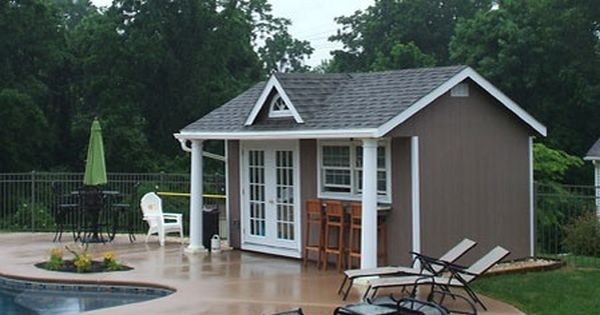 Buy An Outdoor Pool House For The Backyard, Vinyl Pool
