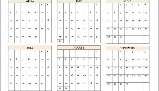 Free printable 2015 year at a glance calendar from www for Day at a glance calendar template