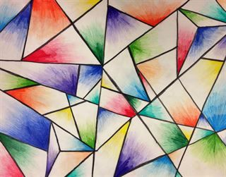 Abstract Colored Pencil Drawing From Buford High School Abstract