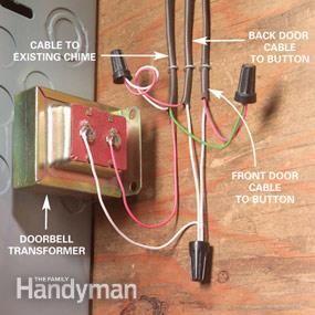 Adding A Second Doorbell Chime Doorbell Chime Doorbell Doorbell Transformer