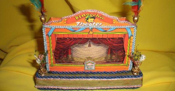 Teatro de pinocho teatro de carton teatro infantil miniaturas casas de mu ecas marionetas - Casa de munecas teatro ...