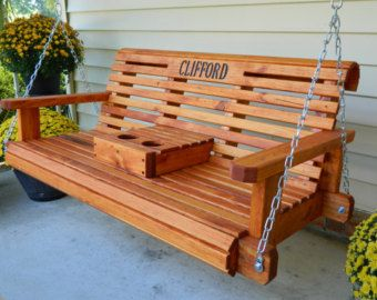 Cedar Glider Swing 4ft 5ft Patio Swing Handmade Heavy Duty Southern Style Outdoor Furniture Free Shipping Porch Furniture Porch Swing Patio Swing