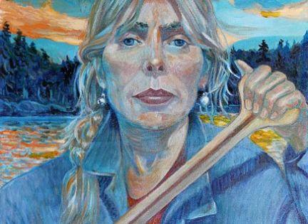 Joni Mitchell, self-portrait. | Art of People - Female ...