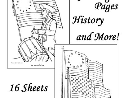 American flag coloring pages history