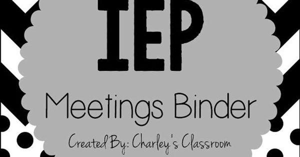iep meetings binder for the year  black  u0026 white